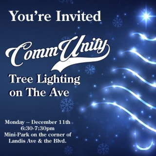CommUnity Tree Lighting on The Ave